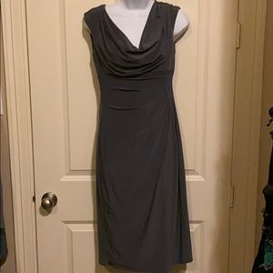 Flattering gray dress by Lauren Ralph Lauren
